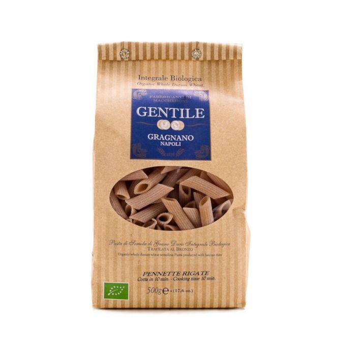 Penne Rigate Integrali Bio Gentile Pasta Gragnano 10min - 500gr
